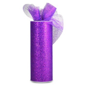 Expo International Glitter Tulle 15cm Fabric Spool, 10-Yard, Purple