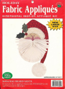 Rag Beard Santa 56304 (Holiday Fabric Applique's Dimensional Iron-On Applique Kit) Approx. 20cm X 25cm - Made in USA