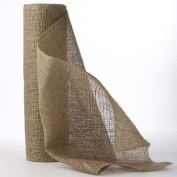 Eco Friendly Natural Woven Jute Burlap Ribbon - 36cm Wide X 10 Yard Long Roll - For Crafting, Designing and Decorating