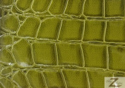 Shiny Alligator Faux Fake Leather Vinyl Fabric -Green- 150cm Sold BTY