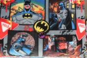 Batman in Action Fleece Fabric 150cm Width By the Yard