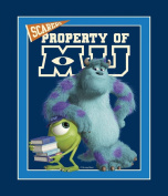Springs Creative - Fabric Disney Monsters University Mike and Sully Panel Fabric, Sold by The Yard, 2.5cm , Blue