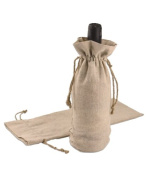 20cm x 42cm Linen Wine or Candle Bags with Jute Cord