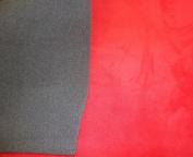 Crimson Suede Stretch Headlining Foam Backed Fabric 150cm Wide By the Yard