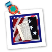 Susan Brown Designs Constitution and Flag Square Quilt Sheet, 25cm by 25cm