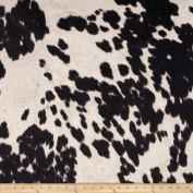Udder Madness Cow Upholstery Black Fabric