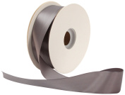 Offray Single Face Satin Craft 3.8cm by 50-Yard Ribbon Spool, Pewter