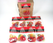 RED HEART, COATS & CLARK ASSORTED colour AND SIZE PLASTIC CRAFT RINGS
