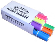 Colortime Crafts and Markers Bright Value Pack of Fabric Markers