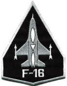 F-16 Fighting Falcon Usaf Air Force Jet Aircraft Applique Iron-on Patch
