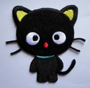 UTE PRETTY BLACK CAT CARTOON Embroidered Iron on Patch