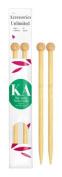 Ka Bamboo Knitting Needle 23cm Straight Size 0
