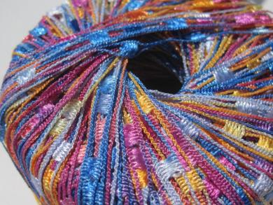 Knitting Fever Dazzle #118 Orange Blue Fuchsia