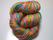 100% Pure Reeled Mulberry Silk Filature Yarn 50 gramme Candy Rainbow RS001