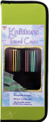 Knitters Travel Case Holds up to 15 Knitting Needles Zippered Case, Colours May Vary