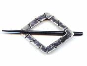 Buttons.etc Exotic Shawl Pins, 30501 - Black Shell Diamond