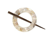 Buttons.etc Exotic Shawl Pins, 30702 - MOP Round Shell