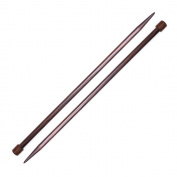 Pony Rosewood Knitting Needle 25cm Straight Size 13