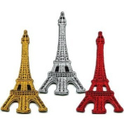 Lot of 3 Eiffel Tower Paris France Retro Boho Europe Appliques Iron-on Patches