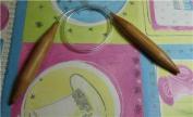 "Bamboo Circular Knitting Needles Size US 17 (12.0 mm) Brilliant Knitting (BR brand), length 16"" inches"