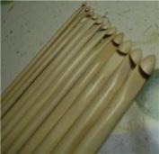 13 SIZES BrilliantKnitting (BR brand) bamboo crochet hooks US2-15/E-P