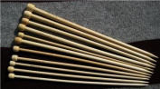 15 size single pointed BrilliantKnitting (BR Brand) bamboo knitting needles US 0-15. 13 inches (33cm) in length