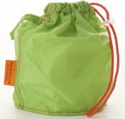 Green Small GoKnit Pouch Project Bag w/ Loop & Drawstring