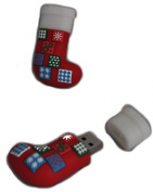 Christmas Quilted Stocking Novelty 2GB USB Drive