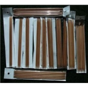 12 sizes BrilliantKnitting (BR brand) 25cm double pointed (DP) bamboo knitting needles US 0-10.5. total 60 needles