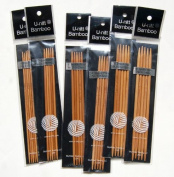 U-nitt Bamboo Knitting Needles Double Point 13cm Sz 1, 2, 3, 4, 5, 6