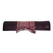 Della Q 25cm Straight Knitting Needle Roll Brown