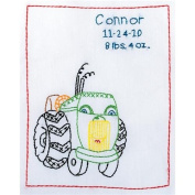 Stamped White Sampler 23cm x 28cm -Tractor Friend