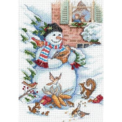 Dimensions Gold Collection Petite Snowman & Friends Counted Cross Stitch