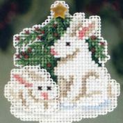 Winter Bunnies - Beaded Cross Stitch Kit MH183303