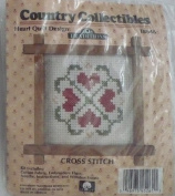 Heart Quilt with Frame - Country Collectibles Traditions - T8646