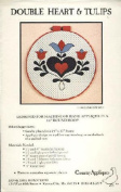 Country Appliques Pattern Double Heart & Tulips