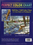 Snowy Stream - Full-Size / Full-Colour Chart for Cross Stitch and Needlepoint