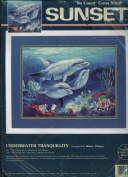 Sunset No Count Cross Stitch - Underwater Tranquilly Designed by Sherry Vintson
