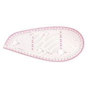Vktech Styling Design Ruler French Curve Hip Curve Cut-Out Slot Straight Ruler