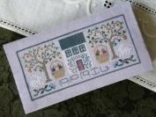 Pocket Calendar Cover - April - Cross Stitch Pattern