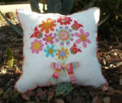 Thank You Floral Applique Pillow Pattern