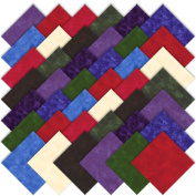 Moda Marbles Bright Charm Pack, Set of 42 5-inch (12.7cm) Precut Cotton Fabric Squares