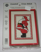 Santa Counted Cross Stitch Kit with Frame #3798
