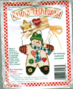Star Snowman Whimsy By Karen Avery - Counted Cross Stitch Kit - Wire Whimsy - #72198