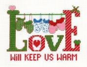 Candamar Designs Love Will Keep Us Warm Cross Stitch Kit