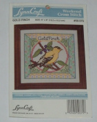 Lynn Craft Weekend Counted Cross Stitch Kit - Gold Finch Goldfinch - #50-375
