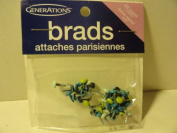 48 Count 4mm Round Brads for Scrapbooking
