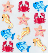 Jolee's Boutique Cabochons Dimensional Stickers, Sea Creatures