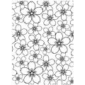 Darice Embossing Folder, 4.25 by 5.75-Inch, Cherry Blossom