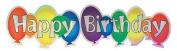 Happy Birthday Title Foil Scrapbook Sticker